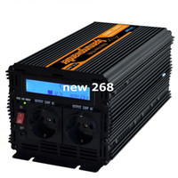 Wholesale 24v power inverter pure sine resale online - Freeshipping High frequency power inverter v v pure sine wave1500w peak w VDC TO VAC with LCD DISPLAY remote Controller