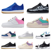 Wholesale white volleyball shoes resale online - N354 Designer One Dunk Mens Women Sports Shoes Ones Shoes Black White Skeleton Tropical Twist Mystic Navy Game Royal Men Trainers Sneakers