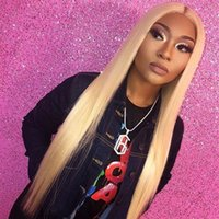 farbe spitze perücke 613 22 großhandel-LIN MAN Brasilianisches Glattes Haar 613 Farbe 13 * 6 Lace Front Perücken mit Babyhaar Remy Menschenhaar Blonde Perücken mit gebleichten Knotes
