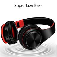 drahtloses bluetooth mikrofon für pc großhandel-D4 Bluetooth Gaming Kopfhörer Stereo Kopfhörer Studio drahtlose Stirnband Mikrofon Kopfhörer Für Computer PC Gamer mit Box