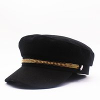 ingrosso berretto da lana derby-Design di lusso inverno cappello caldo spesse Imbianchini lana Basco cappelli dello strillone Caps Beret Berretti fredda di stile per gli uomini delle donne
