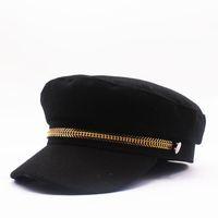 derby wolle barett groihandel-Luxus-Designer-Winter-warmer Hut Thick Maler Wolle Barett Hüte Ballonmützen Beret Berets coole Art für Frauen Männer