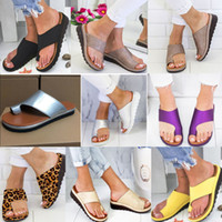 sandalias de tiras chicas al por mayor-Diapositivas de las mujeres chanclas de gran tamaño suave sandalias de sandalias de las sandalias zapatos para las mujeres casuales sandalias de baño en casa ee.uu. 11 hh9-2136