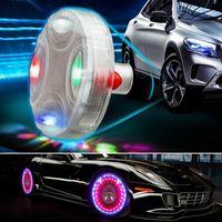 luzes de roda auto venda por atacado-Carro-Styling Car Acessórios Auto Roda Hub Tire Solar Cor LED Flash de Energia Solar Luz Decorativa Para Todos Universal Carros MMA1350