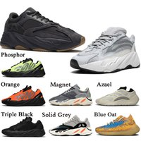 kanye west schuhe yeezy groihandel-Stock x Kanye west Yeezy 700 Vanta Static Damen Herren Laufschuhe Mode Phosphor Orange Wave Runner 700 Solid Grey Designer Casual Trainer Turnschuhe