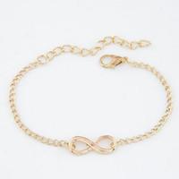uma direção infinity jóias venda por atacado-Moda de uma direção barato menina jóias Pulseira Digital infinito pulseiras para mulheres por atacado pulseira de casamento Bijoux Pulser Link Chain DHL