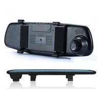grabación del espejo retrovisor de la cámara al por mayor-Nueva pantalla de alta definición de 4.3 pulgadas 1080P HD Video Dash Camera DVR para coche Soporte de grabación de imagen inversa Doble espejo retrovisor