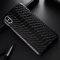 Wholesale snake skin phone case for sale – best Snake Skin Leather Phone Case for iphone XS Max X XR s Plus PU Leather Back Cover for iphone Pro Pro Max Case