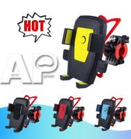soportes de teléfono de plástico al por mayor-Color de la bicicleta Soporte de bicicleta para teléfono móvil Soporte de viaje Accesorio universal Soporte de plástico con 360 grados de rotación para teléfono móvil