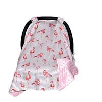 bodenschatten großhandel-Baby autositz Baldachin Carseat Abdeckung Streifen Flamingo Decke Kinderwagen Sonnenschutzkorb sitze sonnenschutz Zubehör bodenmatte Hotsale 100 * 75 cm