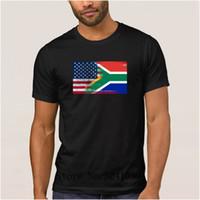 южный флаг оптовых-Новые южноафриканская половина южноафриканская половина флага футболка для мужчин весна футболка мужская 100% хлопок мужская футболка