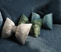 Wholesale home decor handmade car resale online - Bow Knot Pillow Creative Cushion Car neck pillows Home Decor Bow Knot home Decorative Cushion Pillow