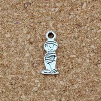 ingrosso gioielli dei piccoli ragazzi-Carino piccolo ragazzo pendenti in lega di fascino 200 pz / lotto argento antico gioielli moda fai da te misura i braccialetti collana 6.8x18.2mm A-515