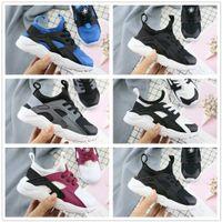 ingrosso scarpe da ginnastica per bambini-Nike Air Huarache New Kids Air Huarache Sneakers Scarpe Per Ragazzi Grils Authentic All White Scarpe da ginnastica per bambini Huaraches Sport Scarpe da corsa Taglia 22-35