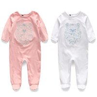 Wholesale newborn size clothing online - New Children pajamas baby rompers newborn baby clothes long sleeve underwear cotton boys girls autumn rompers Colors