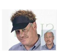 peruk saç toptan satış-Sıcak Satış Yenilik Beyzbol Şapkası Sahte Flair Saç Güneşlik Şapka adamın adamın Peruk Peruk Açık Komik Saç Dökülmesi Serin Golf Caps