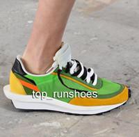 erkek moda ayakkabıları indirim toptan satış-Sacai x Nike LDV Waffle 2019 new avant-garde designer shoes breathable men and women shoes school jogging casual shoes