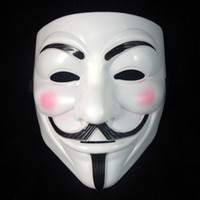 mascarada completa mascaras hombres al por mayor-Vendetta Party Masks Halloween Full Face Masquerade Masks Adult Accesory Party Cosplay Mask Disfraces Plastic Man Festival Gift Day