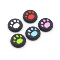 Wholesale grip cap button online - Silicone Cat Claw Joystick Caps Controller Grip Thumbstick Buttons Cover Shell For Sony PS4 PS3 Thumb Stick