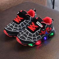 ingrosso pantofole di dimensioni del bambino-Taglia EU 21-36 Scarpe a led Scarpe da ginnastica per bambina Sneakers per bambini Scarpe luminose ad incandescenza Pantofole da cartone animato Cesto con luce