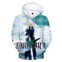 final fantezi oyunları toptan satış-Final Fantasy VII 3D Baskılı hoodie kazak kış erkek / kadın Eğlence hoodie Harajuku sıcak oyun Final Fantasy VII ceket