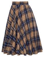 sıcak korecek etek toptan satış-Yaz Yeni Bayanlar A-line Etekler Kadın Ekose Ince Yeni Kore Moda Etekler İmparatorluğu Şort Etekler Tiki Zarif Sıcak Satış Y19043002