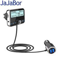 radyo havası toptan satış-JaJaBor Araç DAB Dijital Radyo FM Verici Bluetooth Kulaklık Seti Dijital Ses Yayını QC3.0 Hızlı Şarj + Hava Firar Klip