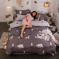 Wholesale ice cream covers for sale - Group buy Forest Animal Bedding Set Queen Size Simple Fashionable Brown Duvet Cover King Twin Full Single Comfortable Bed Cover with Pillowcase