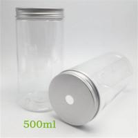 aluminium-kappe kunststoff-flasche groihandel-Heißer verkauf hitzebeständige sitzende mode 500 ml gesundheit kunststoff tragbare transparente aluminiumkappe gerade wasserflasche 1 55 ms uu
