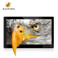 ingrosso schede sd utilizzate-Cornice per foto digitali Raypodo da 15 pollici con risoluzione HD 1280 x 800 con copertura in plastica ABS con interfaccia slot per scheda SD SD