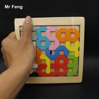 geometrische figur großhandel-Zahl Mathematisches Spiel Kinder Spielzeug Holzpuzzle Geometrisch (Modellnummer B241)
