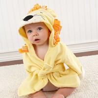 Wholesale bath robes resale online - Infant Baby Long Sleeve Hoodies Belt Bathing Robes Sleepwear Cute Boys Girls Animal Ears Bathrobe Hooded Bath Robes Towels VT1162