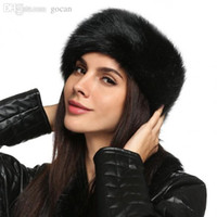 diadema de piel sintética de invierno al por mayor-Al por mayor-Señoras Faux Fur Hat HeadBand Winter Ear Warmer Hat Ski Hair Band Head Earmuff
