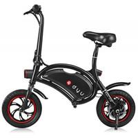 rodas de bicicleta de 12 polegadas venda por atacado-F - roda DYU D1 12 polegadas 10Ah Bicicleta Elétrica Dobrável (Deluxe) - PRETO