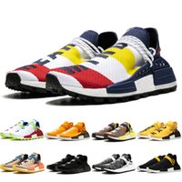 Wholesale mesh pack resale online - Human Race HU X Pharrell Williams casual shoes Creme NERD Solar Pack Holi sport Men Women Pharell Runner Racer Athletic HU Sneaker