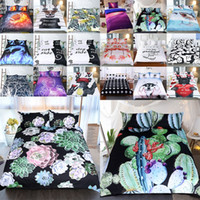 Wholesale 3d christmas bedding sets resale online - 3D Printed Bedding Sets set Luxury Duvet Cover Pillowcases Home Bedding Supplies Christmas Decorative Style Free DHL AN2159