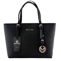en iyi bayanlar deri çanta toptan satış-2018 Yeni En kaliteli Tasarımcı Moda Kadın Çanta lüks çanta bayan Seyahat PU deri çanta çanta omuz tote kadın 6821 torba fabrika