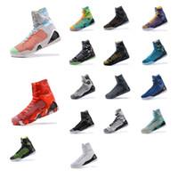 camo sapatos laranja execução venda por atacado-Homens baratos o que o kobe 9 IX elite alta top tênis de basquete Natal Vermelho Preto Branco Azul BHM FTB Cinza Páscoa KB sapatilhas botas para venda