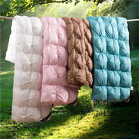 Wholesale goose down bedding for sale - Group buy King Queen Twin size Down Soft Duvet Throw Blanket Comforter Bedding Filler Bread Shape Quilt for Kids Adults