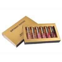 Wholesale mini lipstick gloss online - Hot Kylie Jenner Cosmetics Matte Liquid Lipstick Mini Kit Lip Gloss Birthday Gift Edition Limited With the Golden Box set Lip Gloss