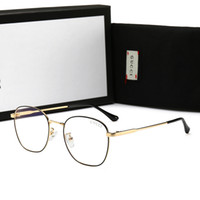 gafas de sol azules para hombres al por mayor-Hot Brand Gafas de sol para hombre Gafas de lujo de Adumbral con marco completo para hombres Mujeres Gafas de sol de diseño simple Anti- Blue Light Glass con caja