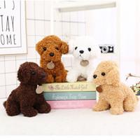 Wholesale toy network resale online - The Latest Brand Teddy Dog Plush Toys Walking the dog Inch Cute Teddy Decoration Cartoon Soft Network Popular Stuffed Animals