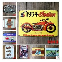 freies vintages plakat großhandel-Motorräder Gold Star Metallplatte Autos Blechschild Vintage Metall Motorrad Poster Garage Club Pub Bar Hause Wanddekoration Freies Verschiffen