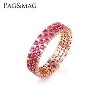 anillos de plata de ley s925 al por mayor-PAGMAG Nueva moda S925 anillo de diamantes de plata esterlina dama personalidad exquisita pulsera regalo novia anillo