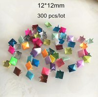 Wholesale rivets pyramids for sale - Group buy 300 Painted mm Square PYRAMID Claw Rivet Studs Punk Leather Shoes Bag DIY Materials Metal Rivet
