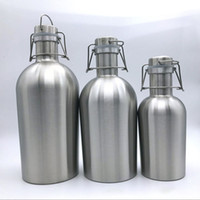 Wholesale bottle swing for sale - Group buy New Stainless Steel Hip Flasks Beer Growler Swing Whiskey Cold Beer Bottle With Lid Hip Flask Wine Pot Kitchen Dining Bar WX9