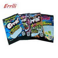 Wholesale crawler resale online - Gummi worm Errlli mg gummy bags Sour brite crawlers Sour terp crawlers Very berry Twisted Sour glowworms gummi edibles bag