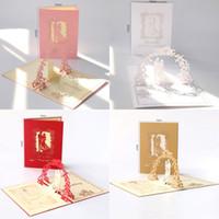 einladungen jubiläum großhandel-3D Hochzeitseinladungen Braut Verlobungsfeier Grußkarten Hohl Hochzeitstag Party Einladung Party Einladungen Versorgung
