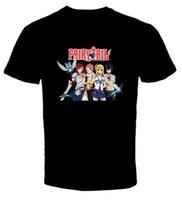 ingrosso camicie anime coda fata-Fairy Tail Anime 1 New T Shirt Spedizione gratuita Harajuku Top T Shirt Fashion Classic Unico