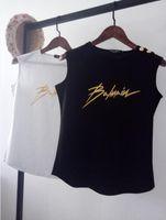 ingrosso reggiseno camisole tazza-Le nuove donne T-Shirt Designer stella con lo stesso paragrafo Twill stampa casuale maniche T-shirt giubbotto top serbatoi tee femminili